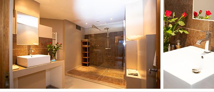 Magnifique salle de douche, refaite à neuf.