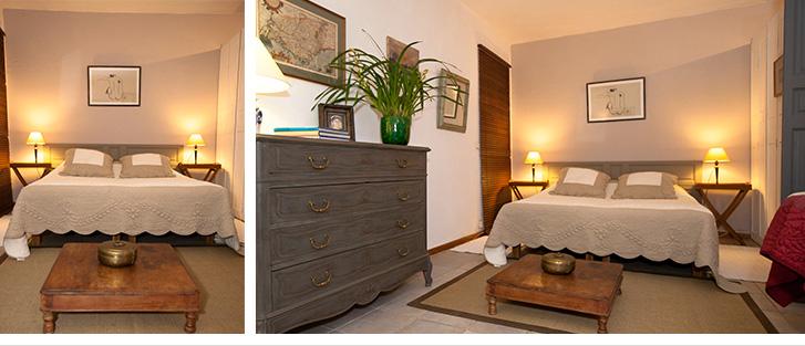 Coin chambre dans le studio pour vos vacances sur la Côté d'Azur.